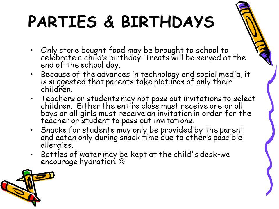 PARTIES & BIRTHDAYS