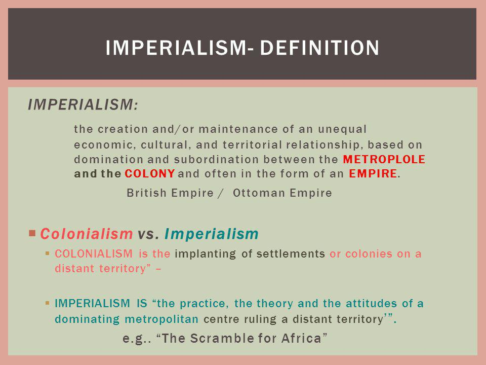 imperialism- definition