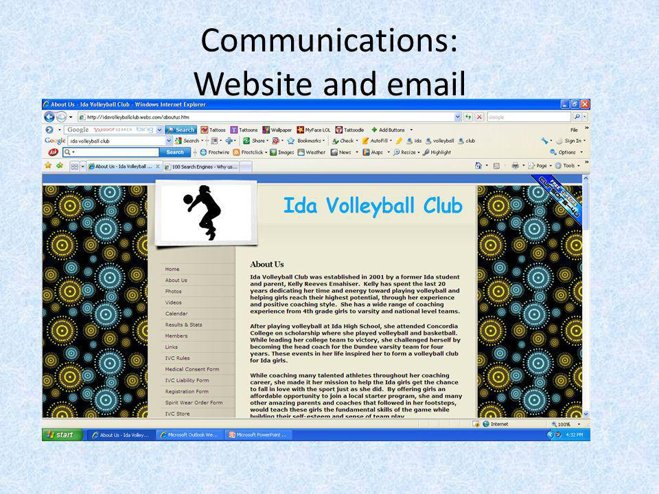 Communications: Website and email