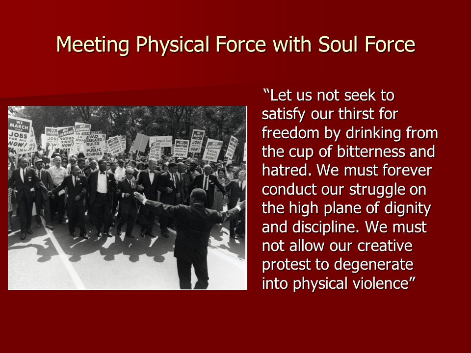 Meeting Physical Force with Soul Force