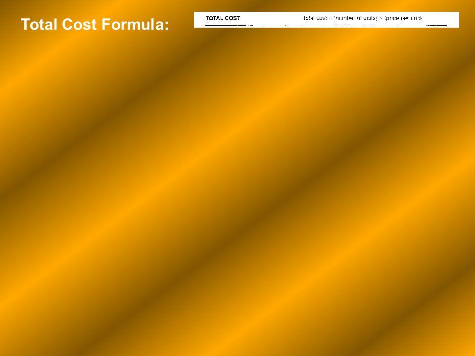 Total Cost Formula: