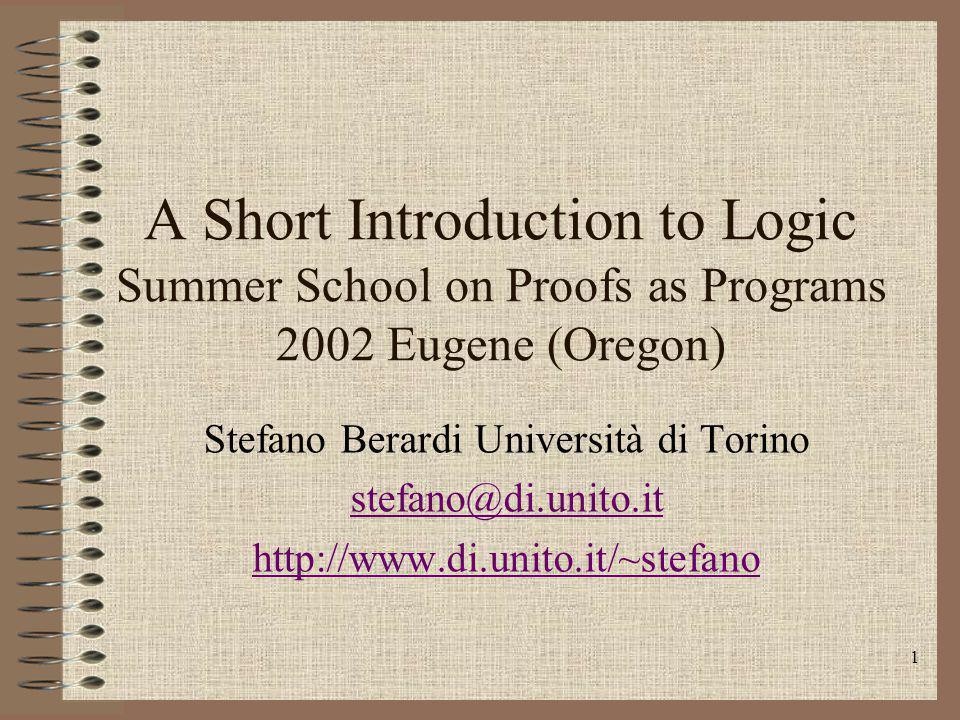 Stefano Berardi Università di Torino