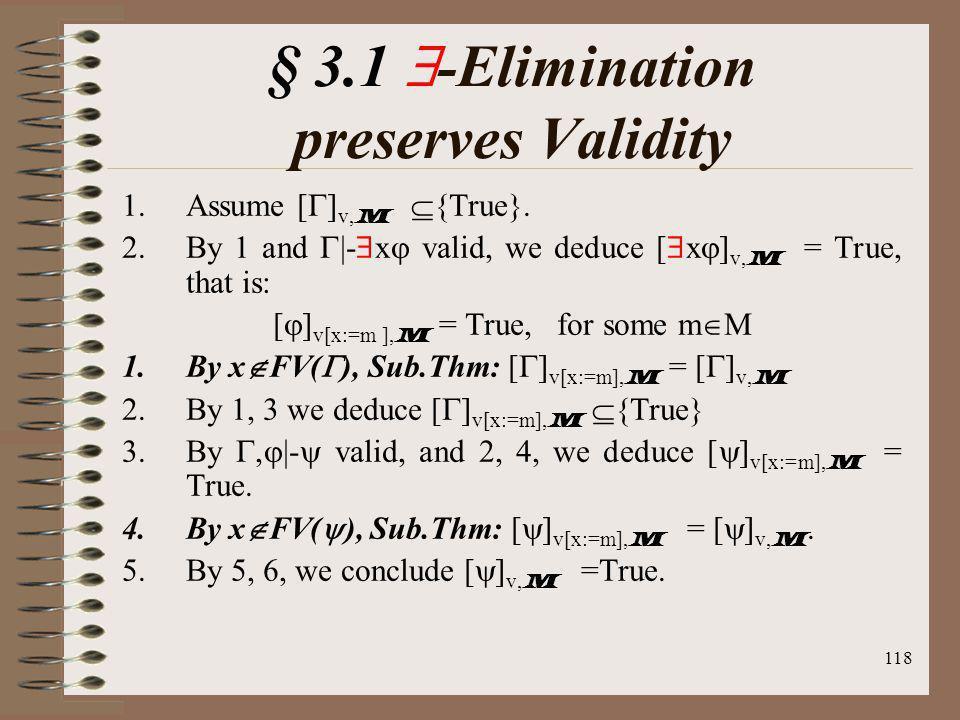 § 3.1 -Elimination preserves Validity