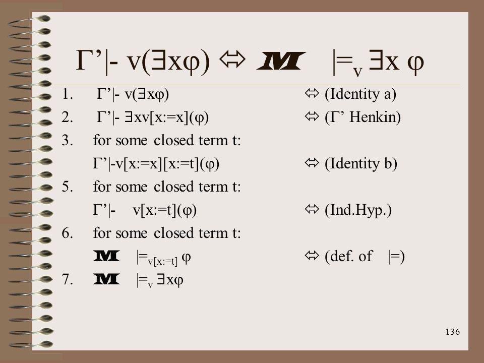 '|- v(x)  M |=v x  '|- v(x)  (Identity a)
