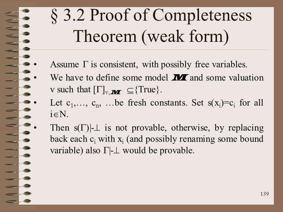 § 3.2 Proof of Completeness Theorem (weak form)