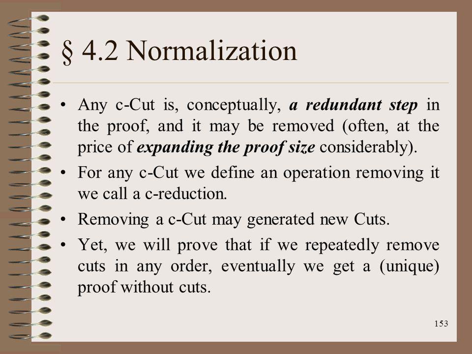 § 4.2 Normalization