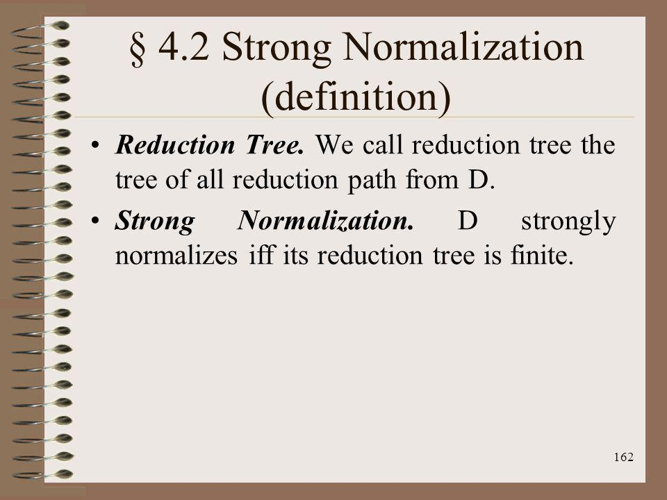 § 4.2 Strong Normalization (definition)