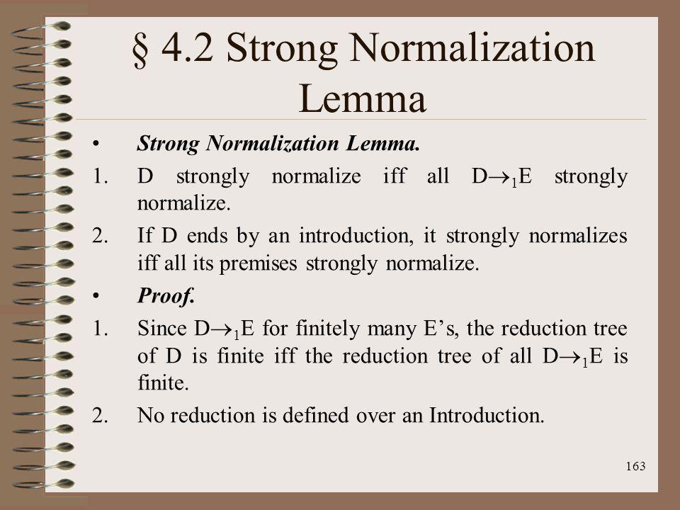 § 4.2 Strong Normalization Lemma
