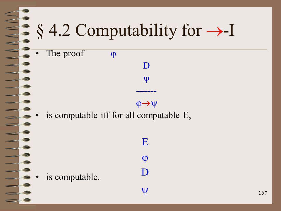 § 4.2 Computability for -I