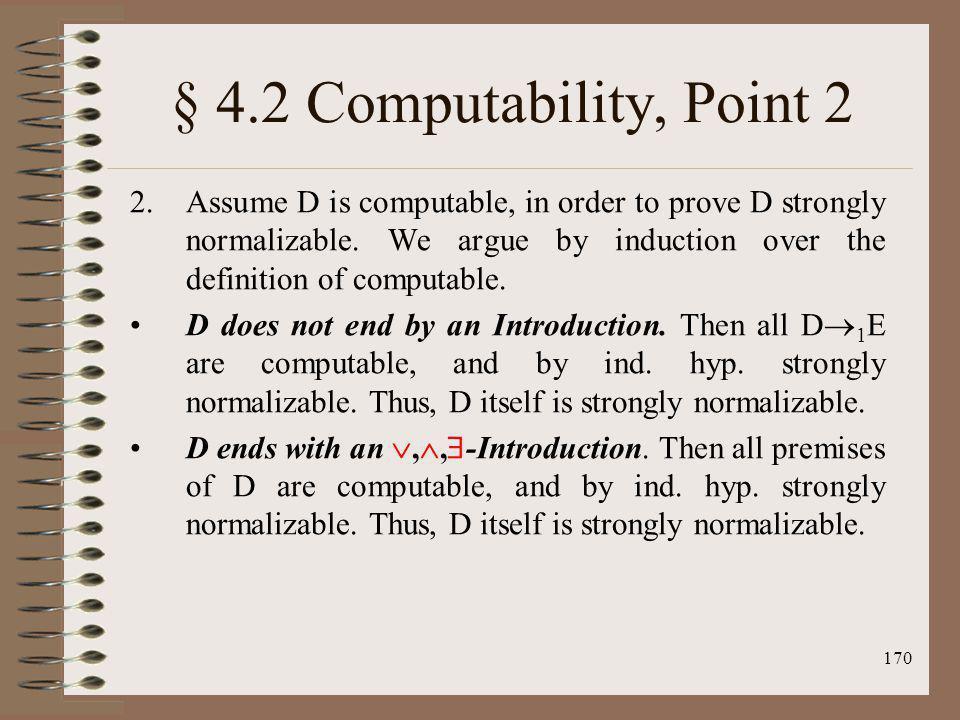 § 4.2 Computability, Point 2