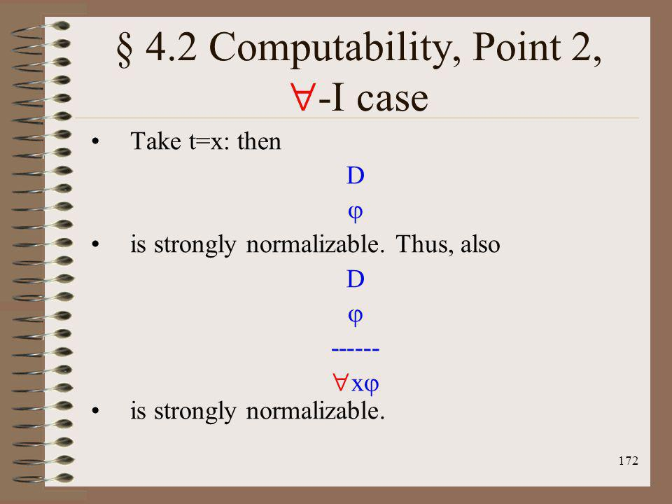 § 4.2 Computability, Point 2, -I case