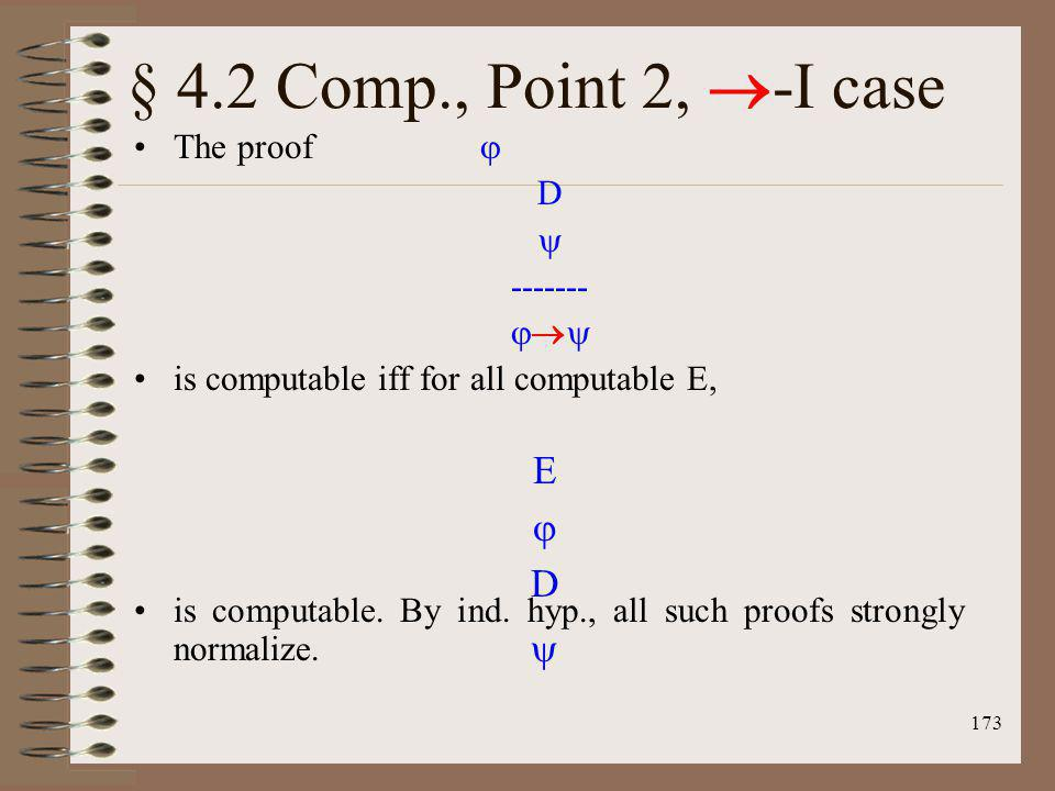 § 4.2 Comp., Point 2, -I case E  D  The proof  D  ------- 
