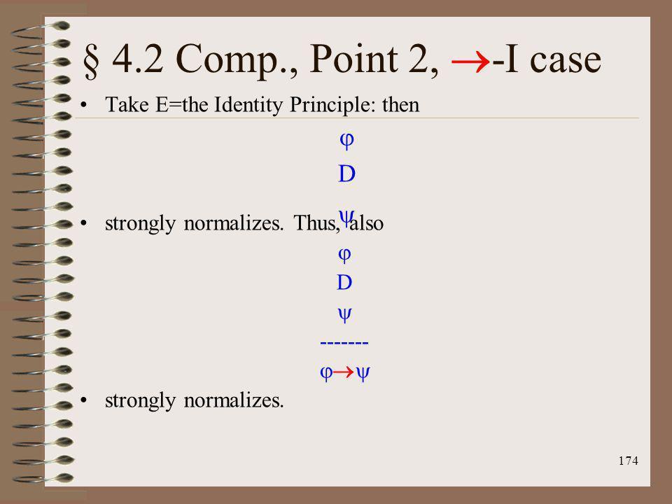 § 4.2 Comp., Point 2, -I case  D 