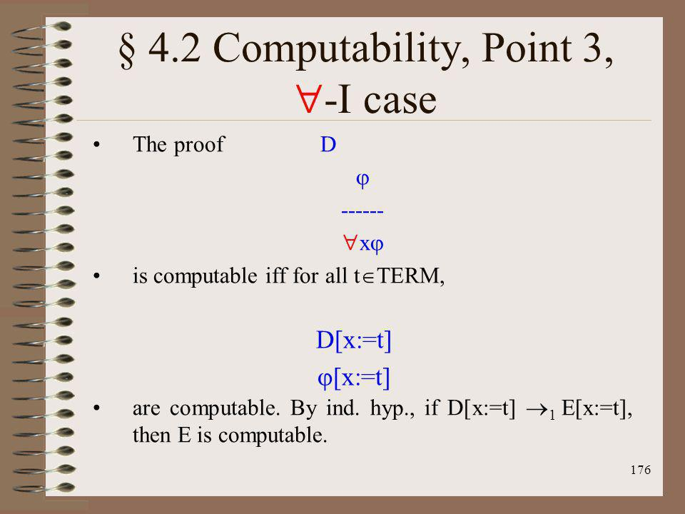 § 4.2 Computability, Point 3, -I case