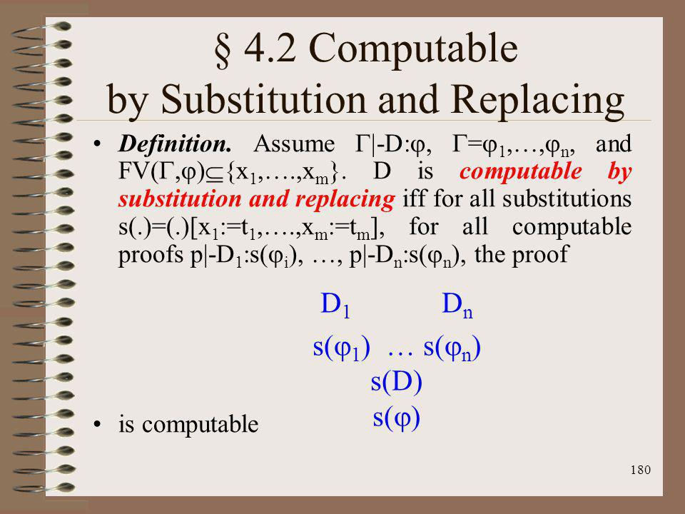 § 4.2 Computable by Substitution and Replacing
