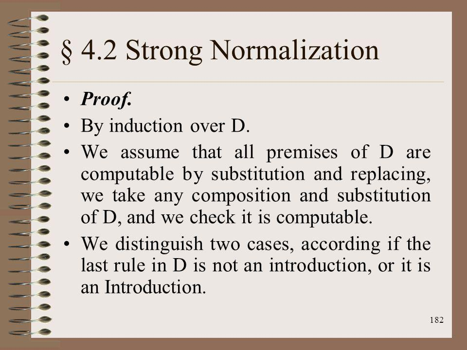 § 4.2 Strong Normalization