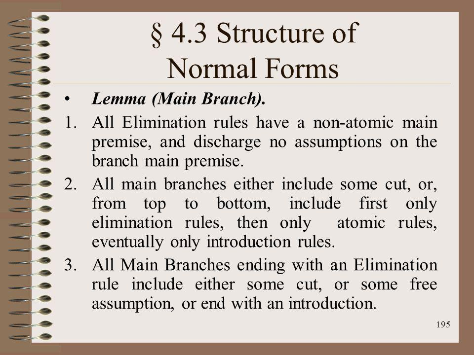 § 4.3 Structure of Normal Forms
