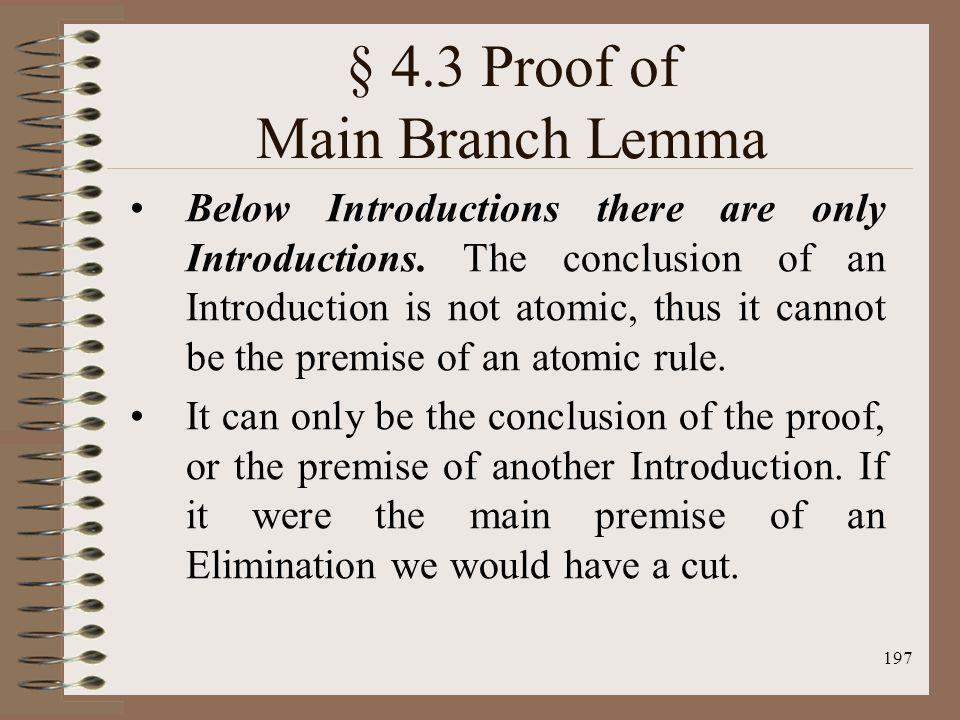 § 4.3 Proof of Main Branch Lemma