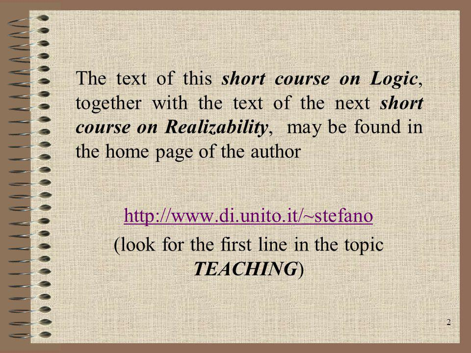 (look for the first line in the topic TEACHING)