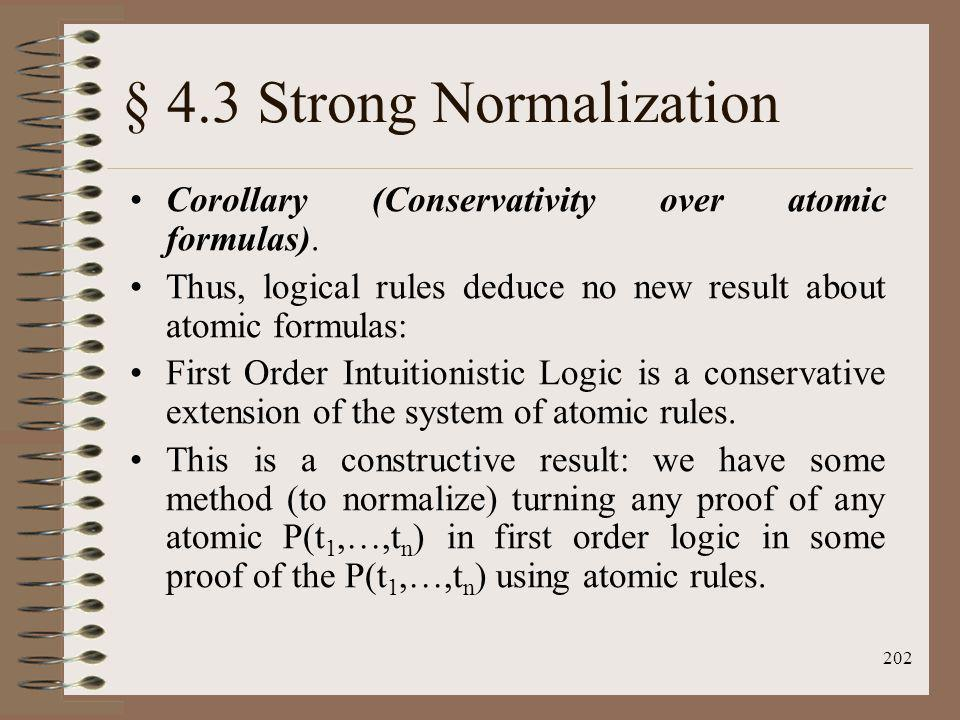 § 4.3 Strong Normalization