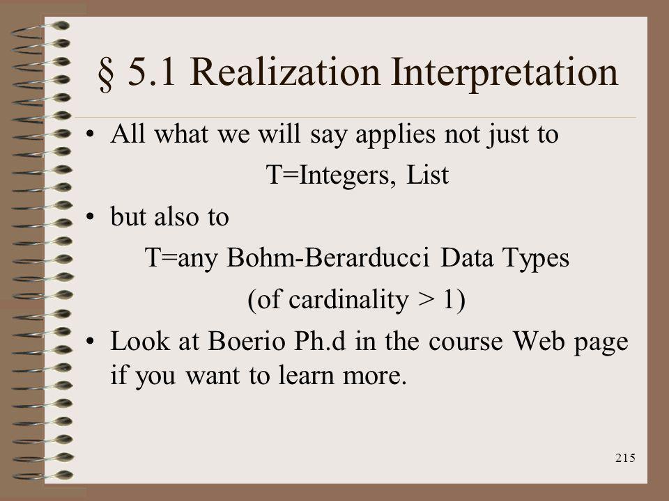 § 5.1 Realization Interpretation