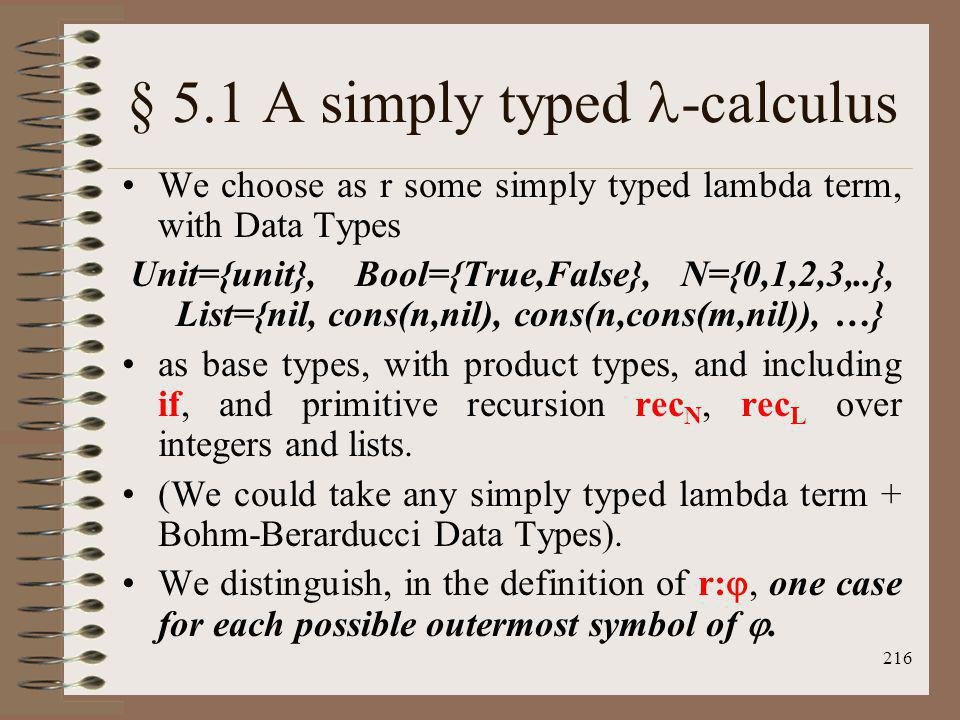 § 5.1 A simply typed -calculus