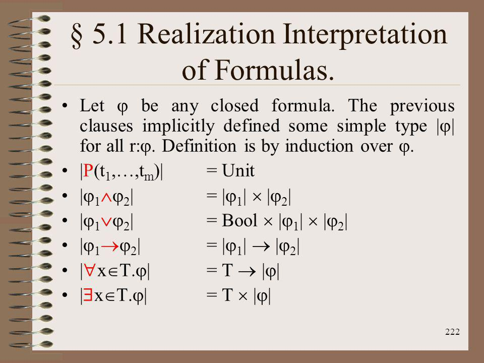 § 5.1 Realization Interpretation of Formulas.