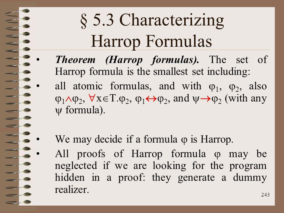 § 5.3 Characterizing Harrop Formulas