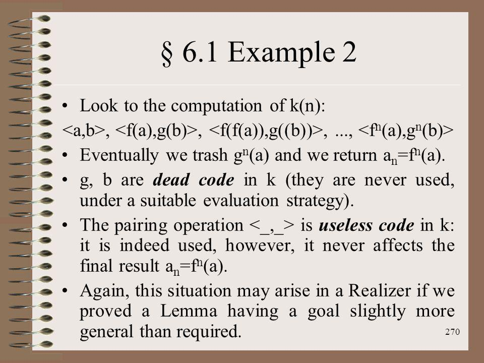 § 6.1 Example 2 Look to the computation of k(n):