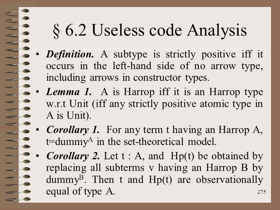 § 6.2 Useless code Analysis