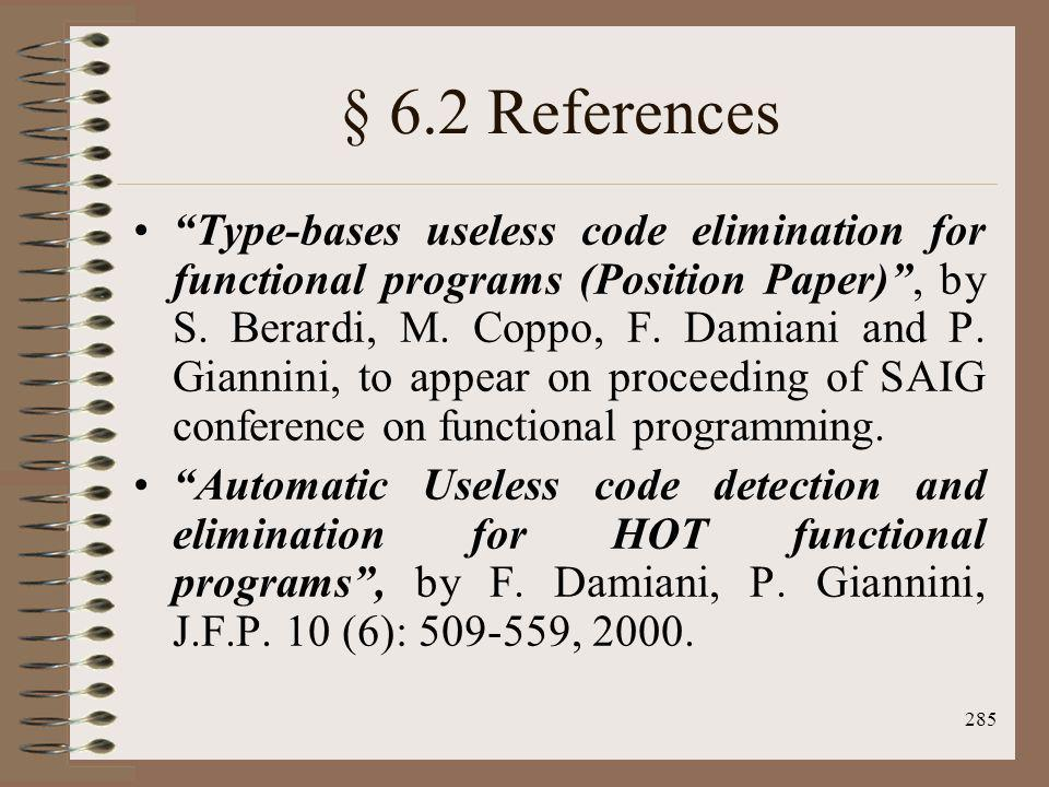 § 6.2 References