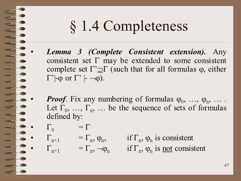 § 1.4 Completeness