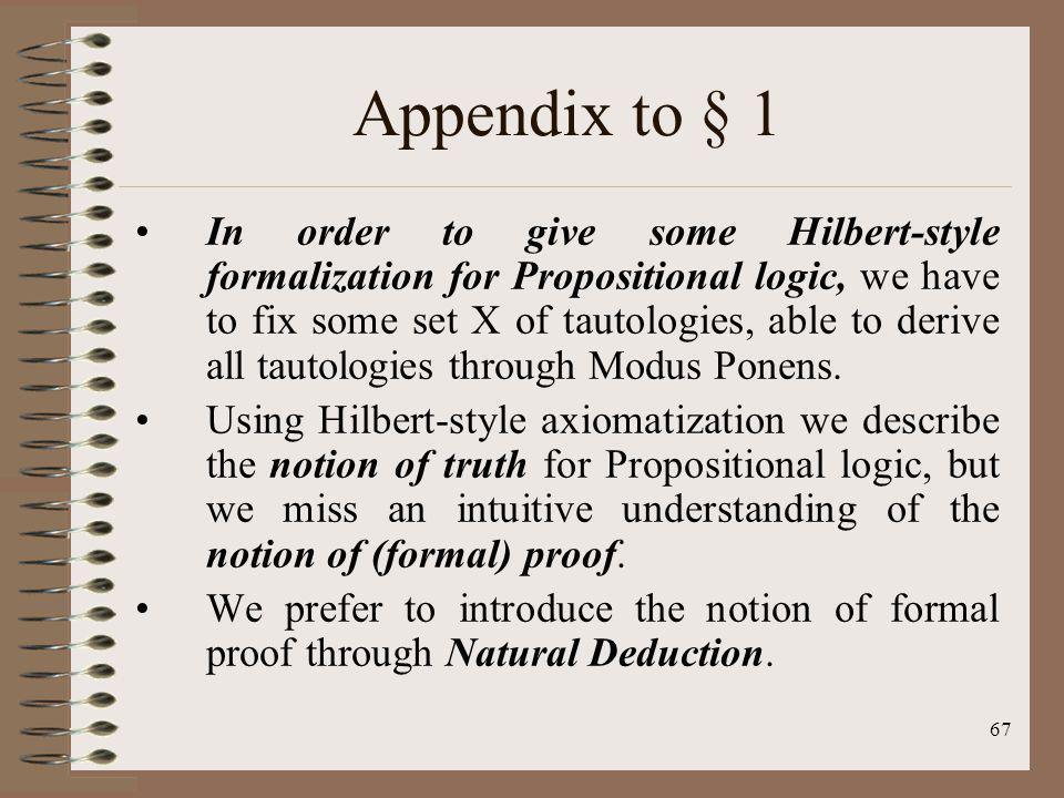 Appendix to § 1
