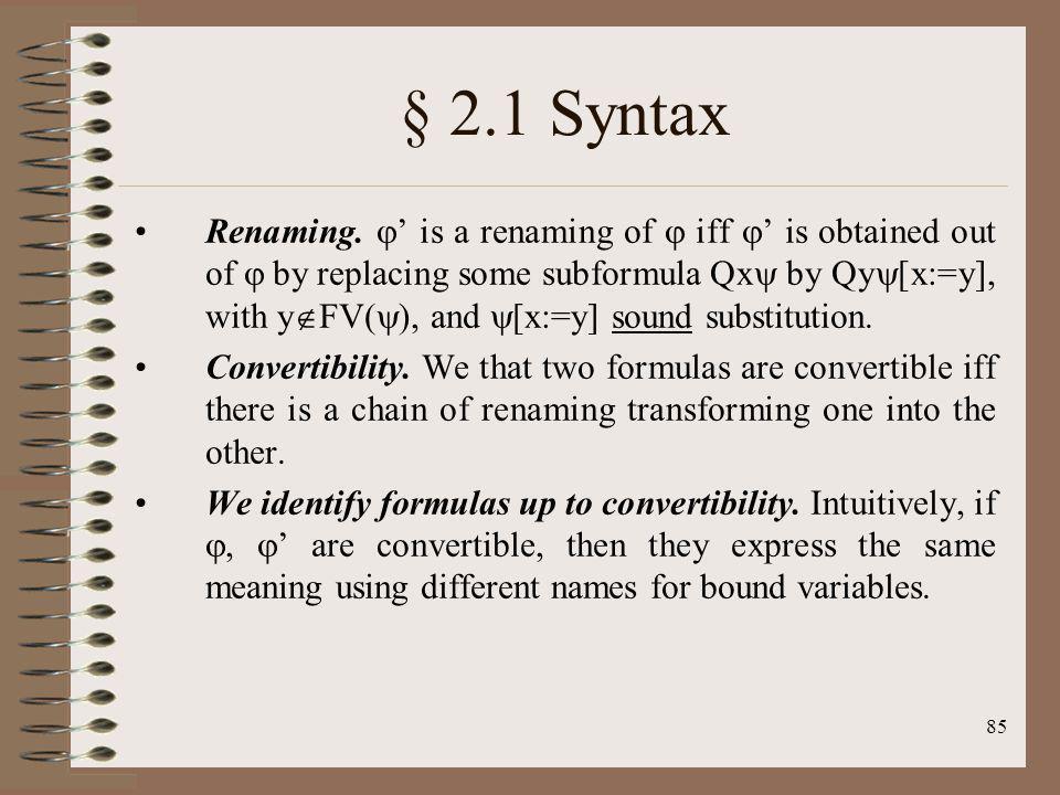 § 2.1 Syntax