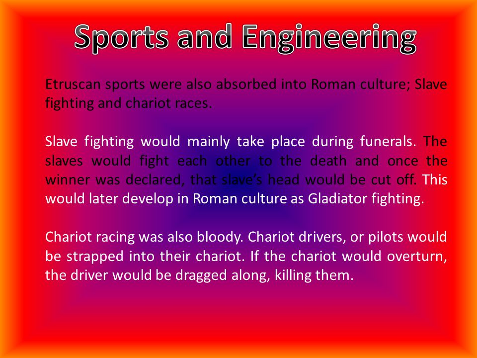 Sports and Engineering