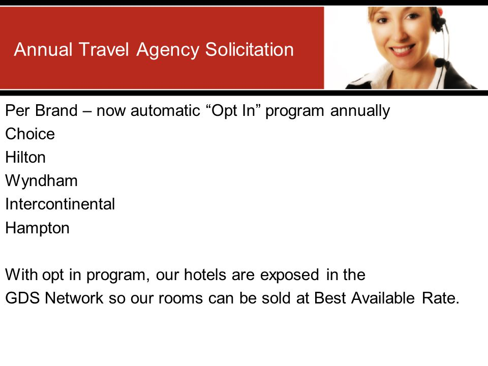 Annual Travel Agency Solicitation