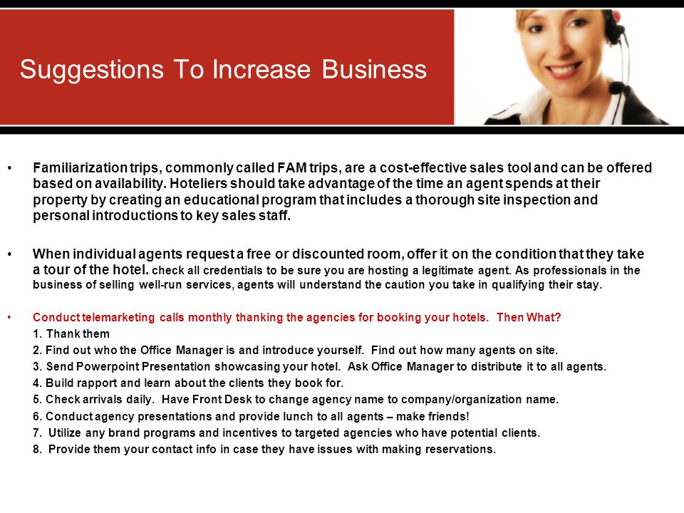 Suggestions To Increase Business