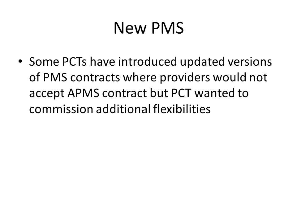 New PMS