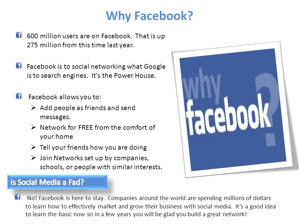 Why Facebook Is Social Media a Fad
