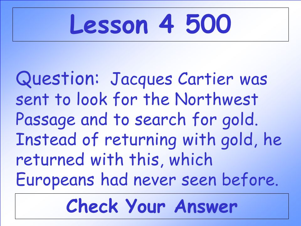 Lesson 4 500