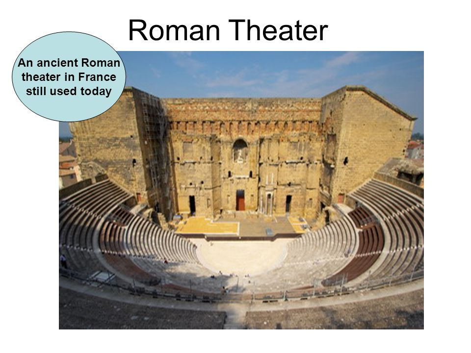 Roman Theater An ancient Roman theater in France still used today
