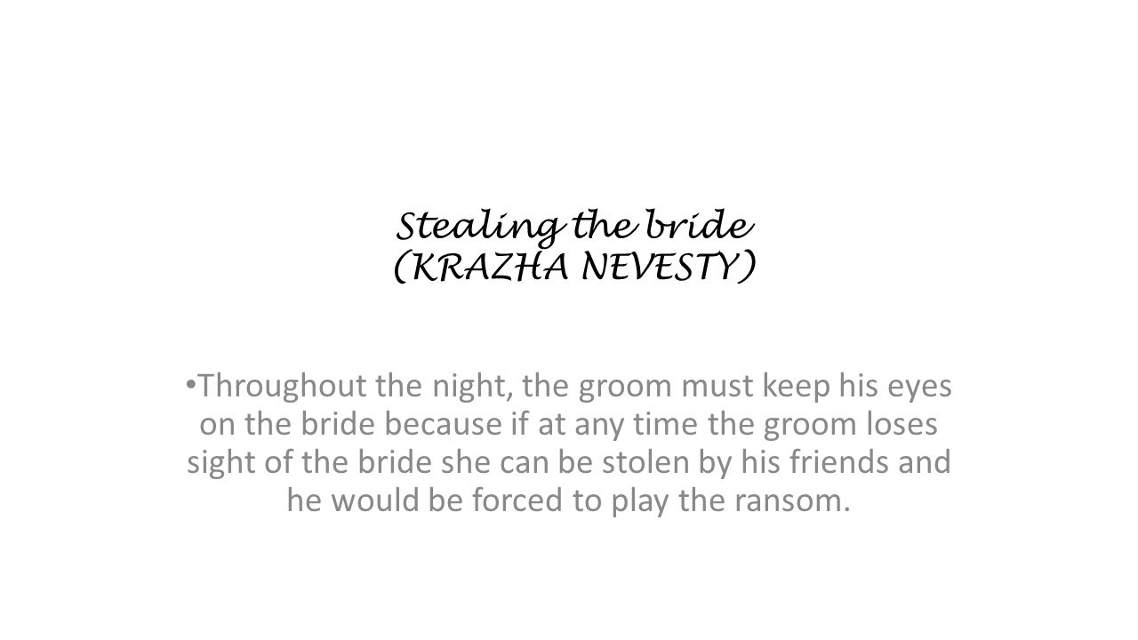 Stealing the bride (KRAZHA NEVESTY)