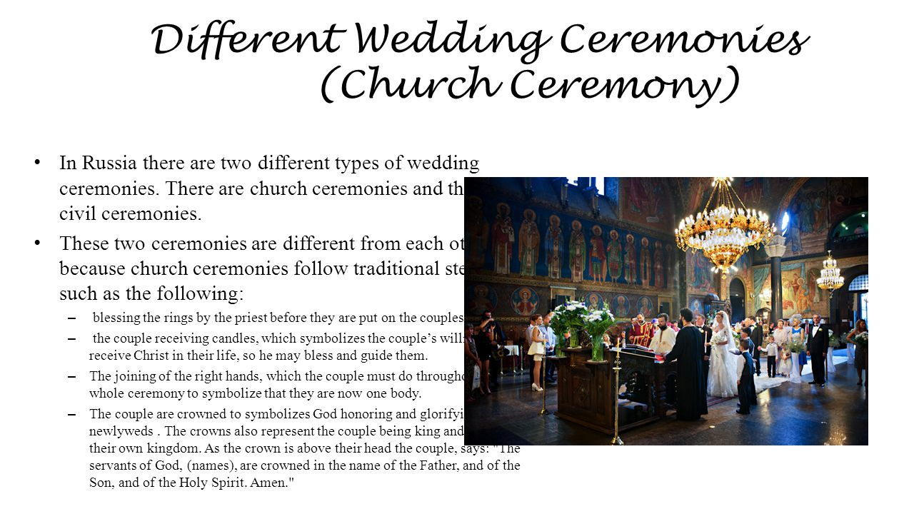 Different Wedding Ceremonies (Church Ceremony)