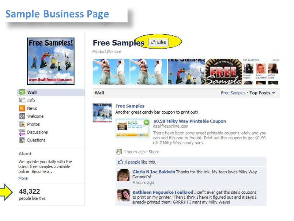 Sample Business Page