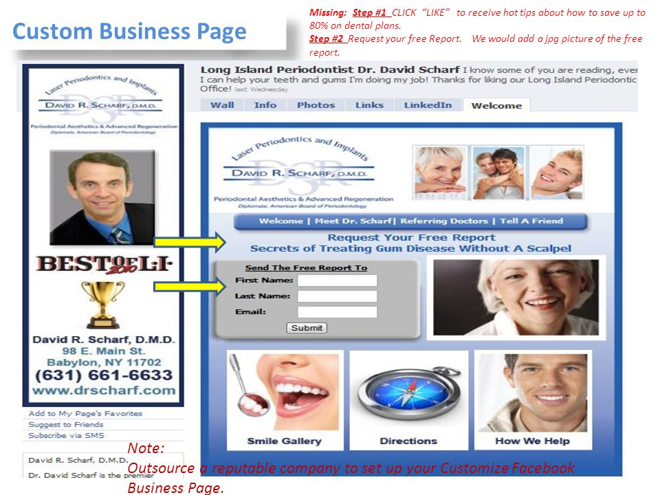 Custom Business Page Note: