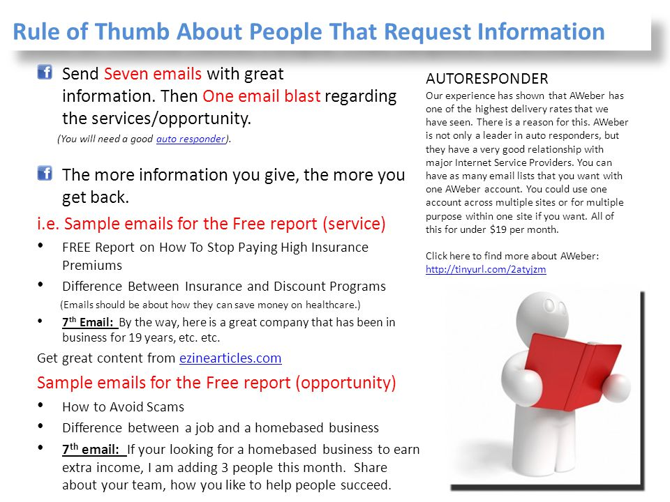 Rule of Thumb About People That Request Information