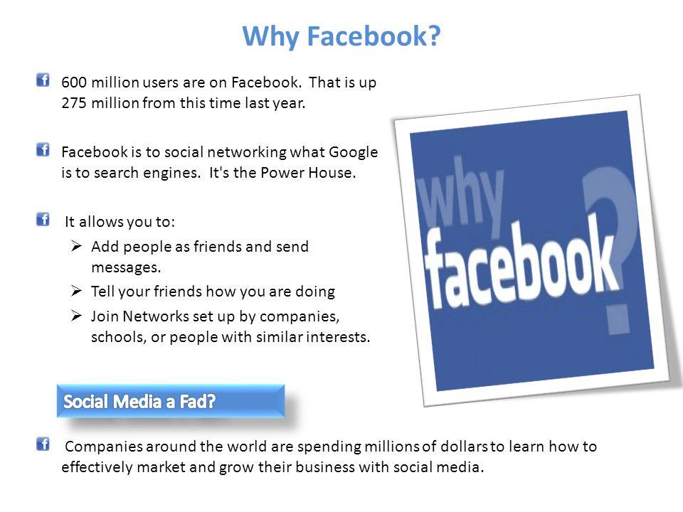 Why Facebook Social Media a Fad