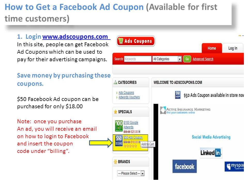 How to Get a Facebook Ad Coupon (Available for first time customers)