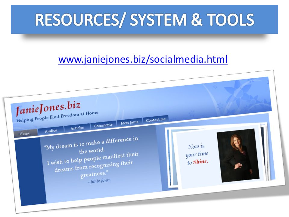 RESOURCES/ SYSTEM & TOOLS