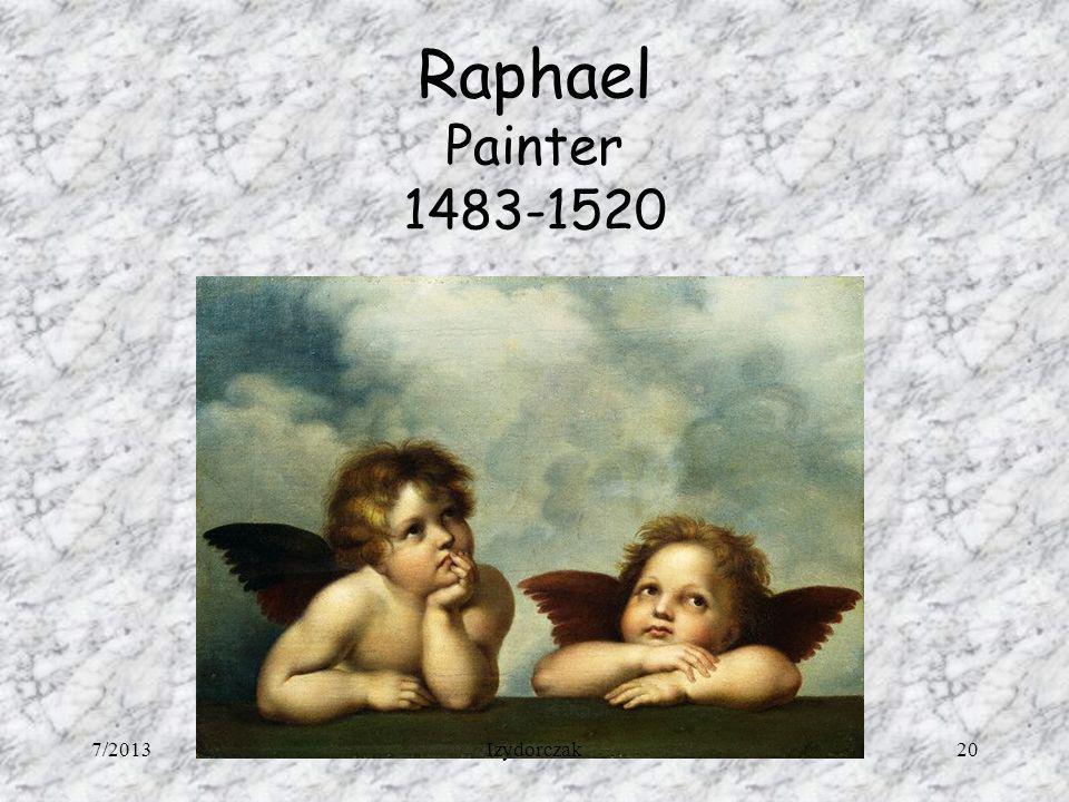 Raphael Painter 1483-1520 7/2013 Izydorczak